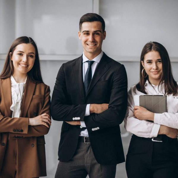 Bussiness people working in team in an office